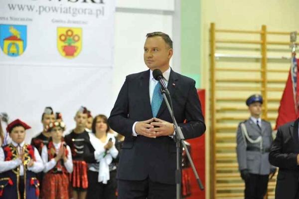 Prezydent Andrzej Duda spotkał się z mieszkańcami powiatu