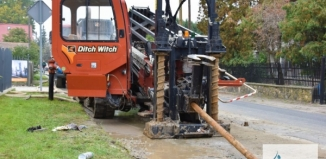 Prace przy sieci wodno-kanalizacyjnej w Krążkowie