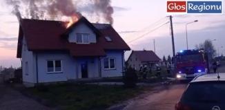 Pożar w Lasocicach. Nagranie z akcji gaśniczej