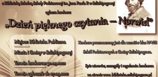 """Szlichtyngowa: Konkurs """"Dzień pięknego czytania – Norwid"""""""