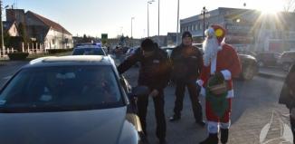 Mikołaj zatrzymywał kierowców