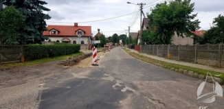 Remont drogi w Ciosańcu