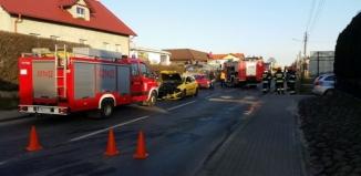 Wypadek na krajowej 12 we Wschowie
