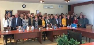 Delegacja z Kobylnicy w gminie Przemęt
