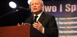 Jarosław Kaczyński we Wschowie.