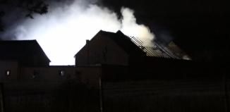 Pożar budynku we Wschowie