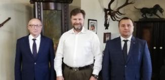 Starosta Wschowski spotkał sięz Przewodniczącym Związku Łowieckiego i Łowczym Krajowym