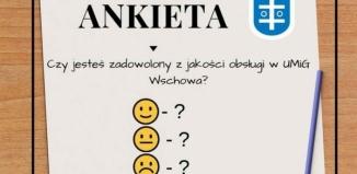Ankieta o jakości obsługi w UMiG we Wschowie