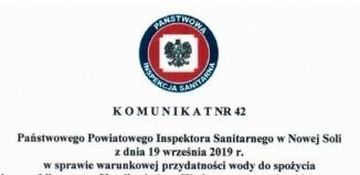 Informacja dla mieszkańców m. Jędrzychowic i Kowalewa w sprawie przydatności wody do spożycia.