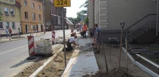 Prace nad przebudowąskrzyżowania