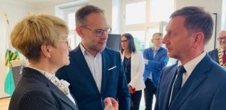 Spotkanie z premierem Saksonii