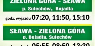 Autobusowe połączenie Sławy z Zieloną Górą.
