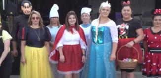 Mierzejewo bawiło się z Myszką Miki, Smerfami i Królewną Śnieżką (video)